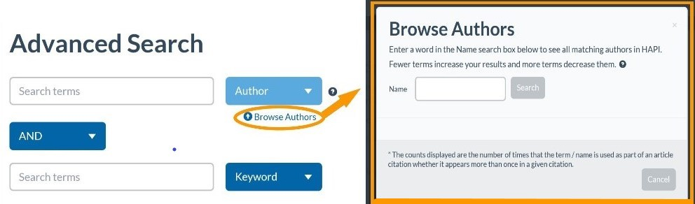 Author browse